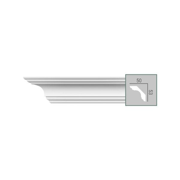 Карниз с гладким профилем P 210