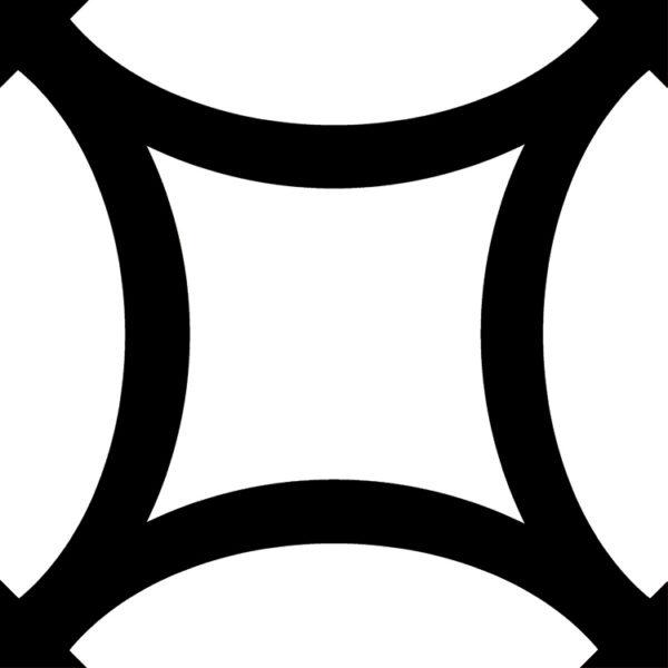 District Figure Black для стен и пола плитка