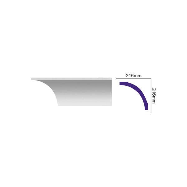 K 265 карниз с гладким профилем