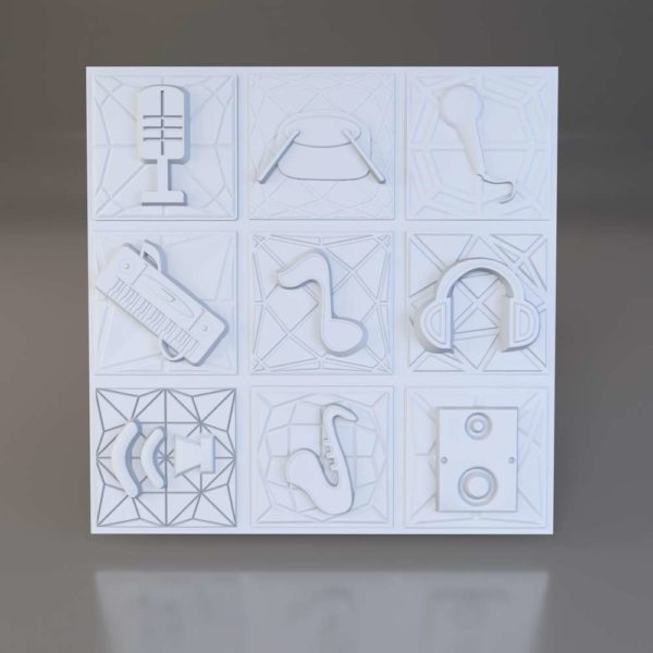 3D панели Jazz