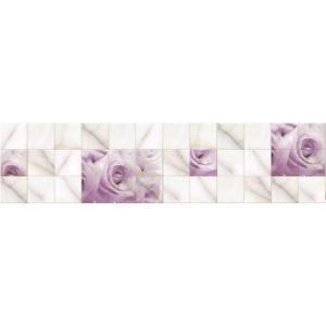 Кухонный фартук Кафель роза