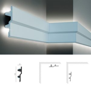 полиуретановый молдинг KF 709,150х40 мм